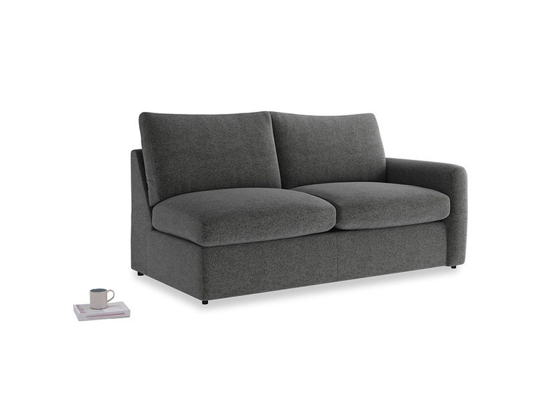 Chatnap Sofa Bed in Shadow Grey wool with a right arm