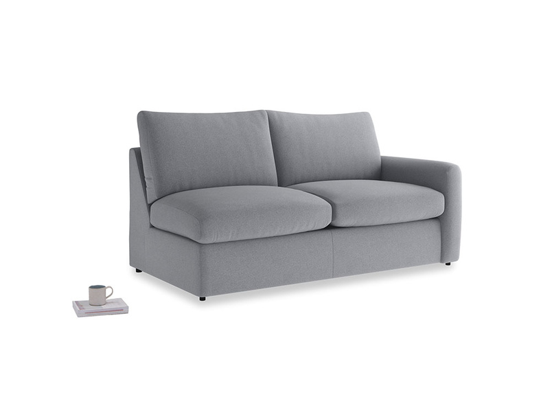 Chatnap Sofa Bed in Dove grey wool with a right arm