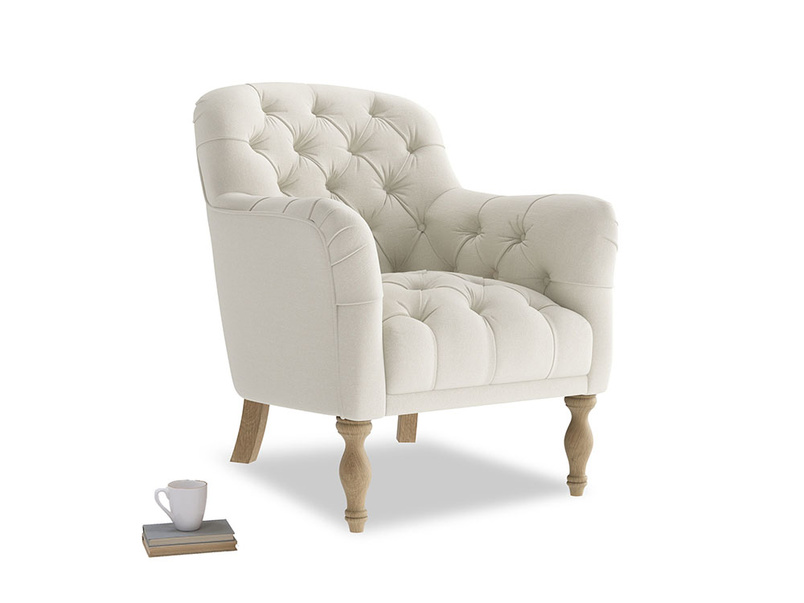 Reader Armchair in Oat brushed cotton