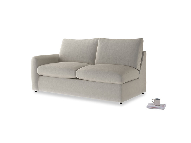 Chatnap Sofa Bed in Smoky Grey clever velvet with a left arm