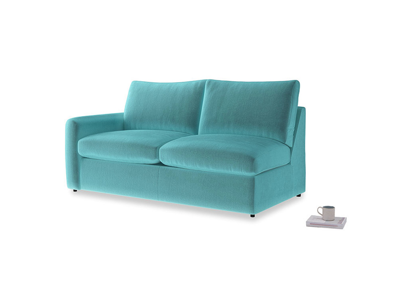 Chatnap Sofa Bed in Belize clever velvet with a left arm