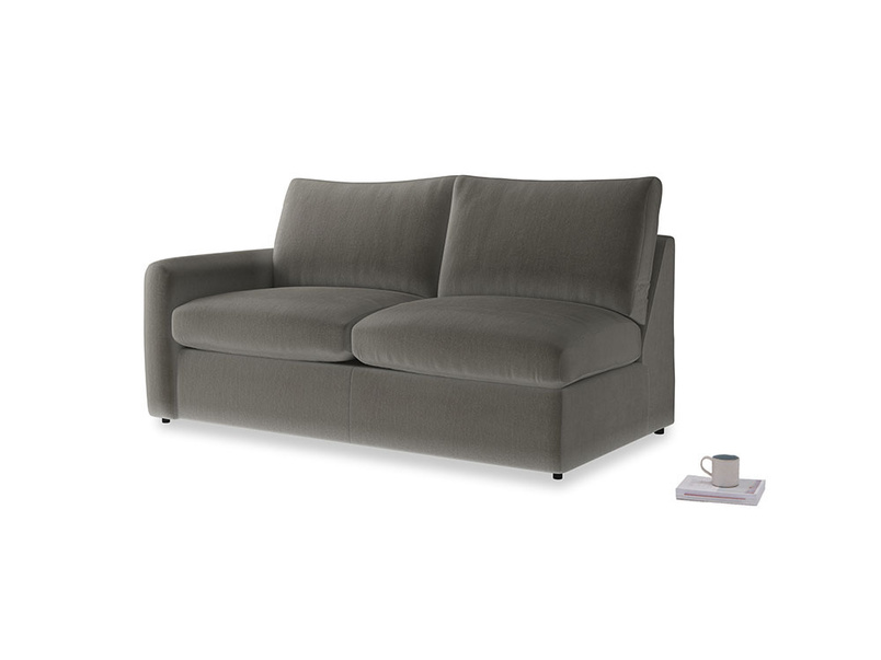 Chatnap Sofa Bed in Slate clever velvet with a left arm