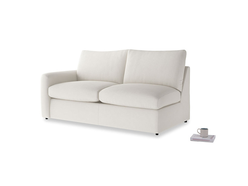 Chatnap Sofa Bed in Oyster white clever linen with a left arm