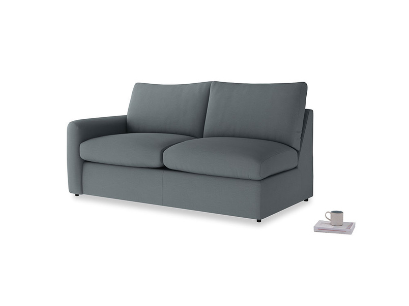 Chatnap Sofa Bed in Meteor grey clever linen with a left arm