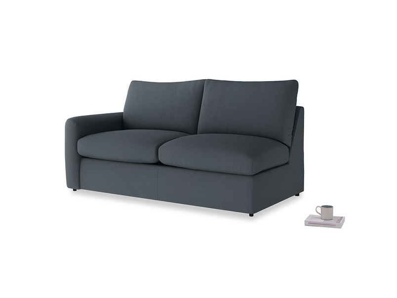 Chatnap Sofa Bed in Lava grey clever linen with a left arm
