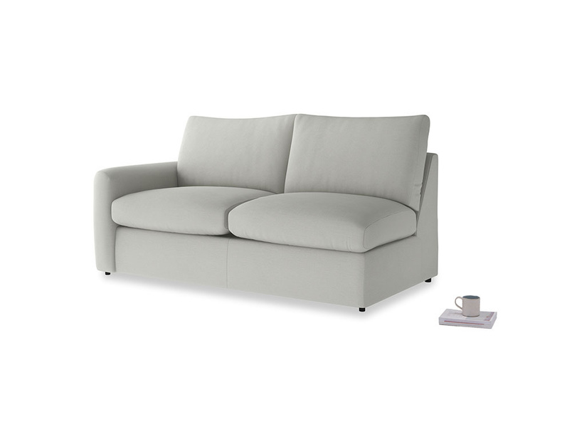 Chatnap Sofa Bed in Mineral grey clever linen with a left arm