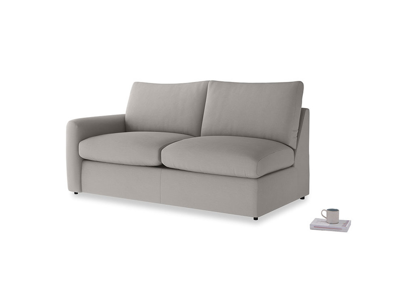 Chatnap Sofa Bed in Safe grey clever linen with a left arm