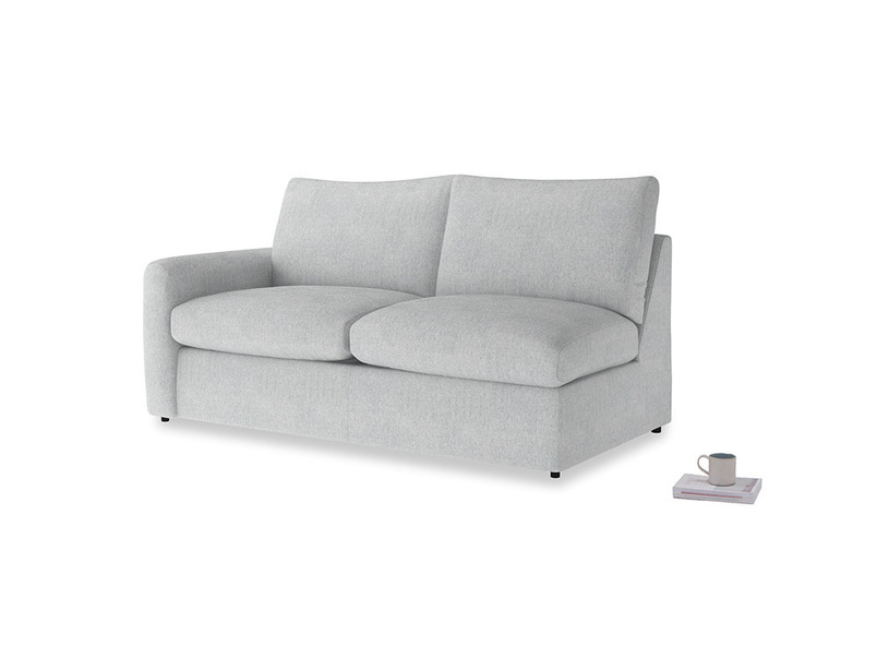 Chatnap Sofa Bed in Pebble vintage linen with a left arm