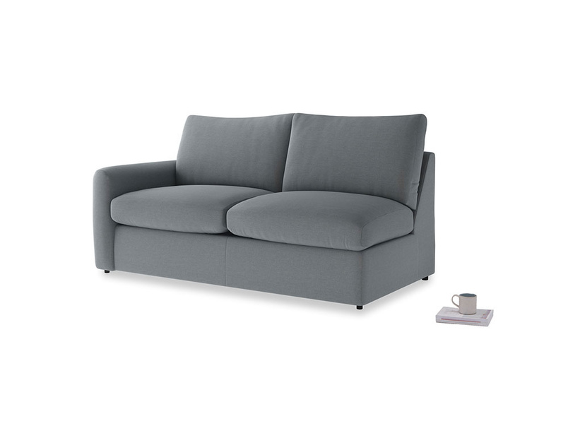 Chatnap Sofa Bed in Dusk vintage linen with a left arm