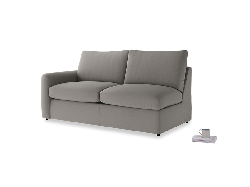 Chatnap Sofa Bed in Monsoon grey clever cotton with a left arm