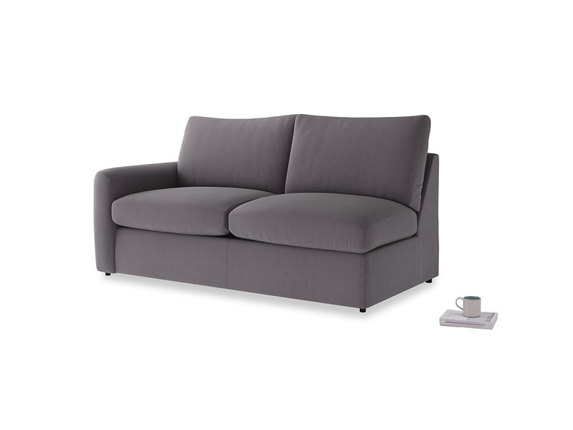Chatnap Sofa Bed in Graphite grey clever cotton with a left arm