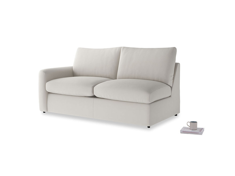 Chatnap Sofa Bed in Moondust grey clever cotton with a left arm