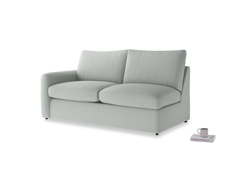 Chatnap Sofa Bed in Eggshell grey clever cotton with a left arm