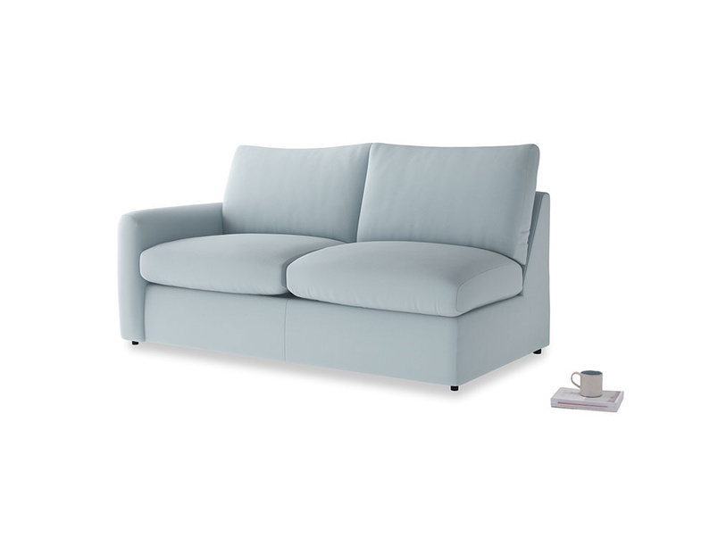 Chatnap Sofa Bed in Scandi blue clever cotton with a left arm