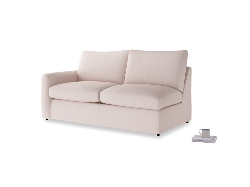 Chatnap Sofa Bed in Faded Pink brushed cotton with a left arm
