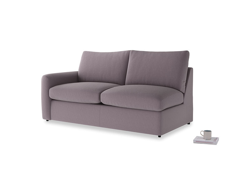 Chatnap Sofa Bed in Lavender brushed cotton with a left arm