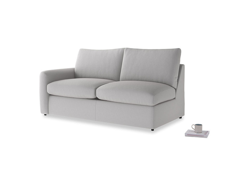 Chatnap Sofa Bed in Flint brushed cotton with a left arm