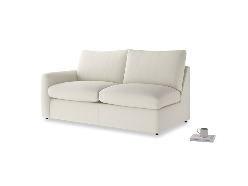 Chatnap Sofa Bed in Oat brushed cotton with a left arm