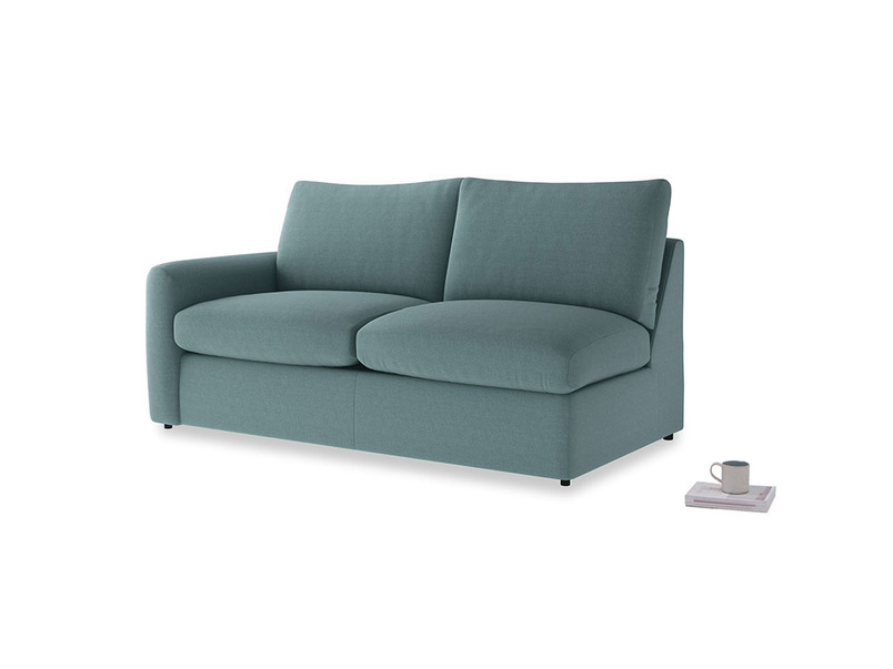 Chatnap Sofa Bed in Marine washed cotton linen with a left arm