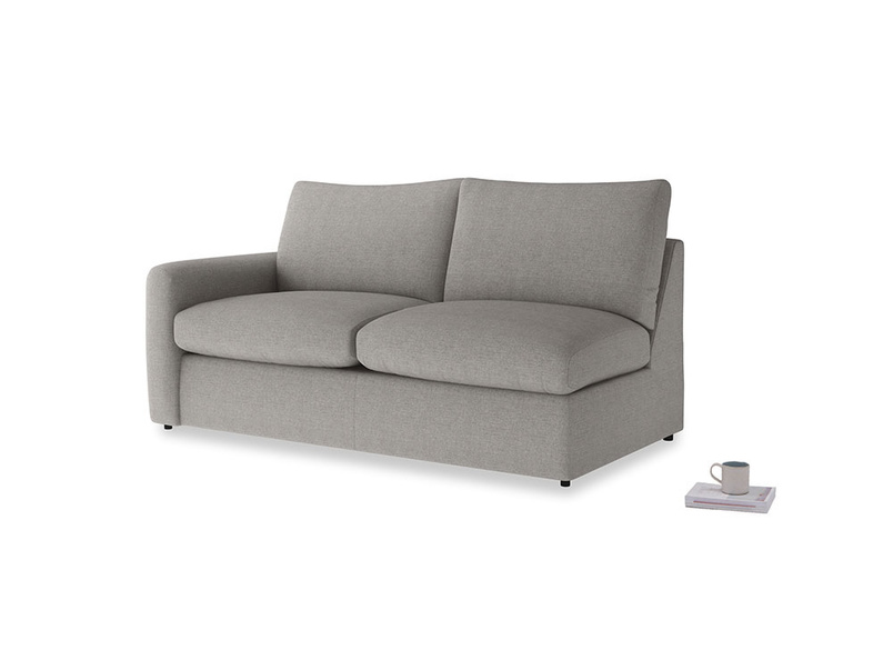 Chatnap Sofa Bed in Marl grey clever woolly fabric with a left arm