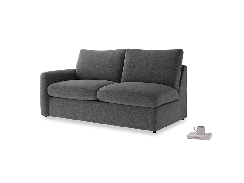 Chatnap Sofa Bed in Shadow Grey wool with a left arm