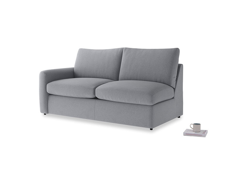 Chatnap Sofa Bed in Dove grey wool with a left arm