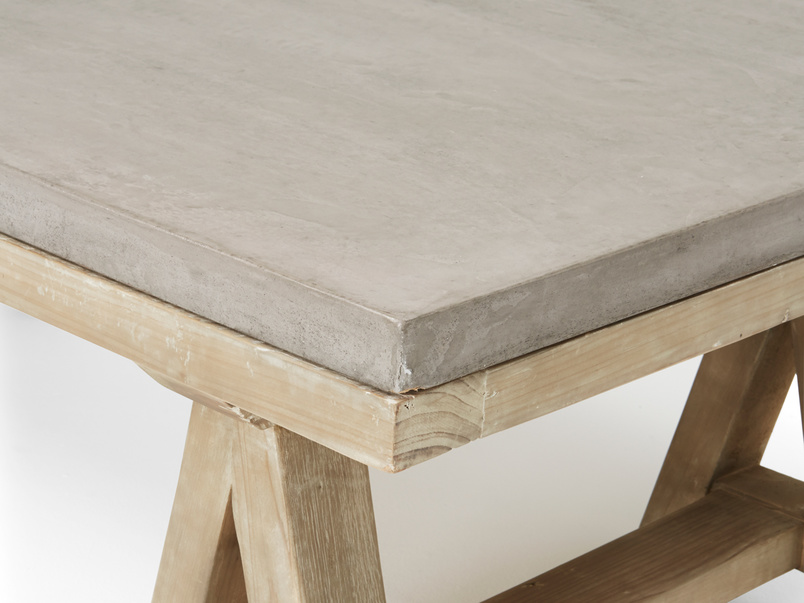 Practical gorgeous concrete Ace industrial coffee table