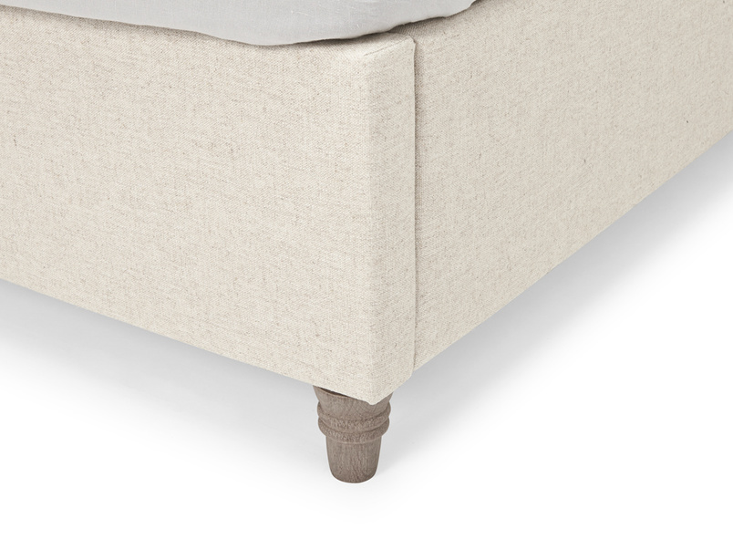 Deep-buttoned upholstered Billow bed in a contemporary design