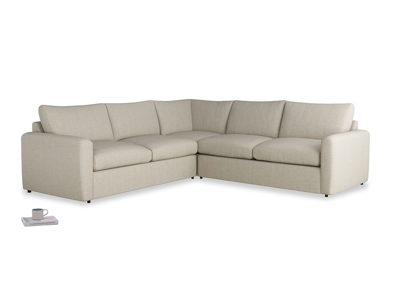 Even Sided  Chatnap modular corner storage sofa in Thatch house fabric with both arms