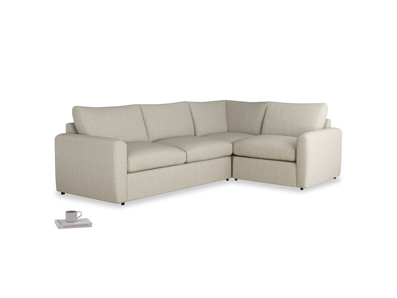 Large right hand Chatnap modular corner storage sofa in Thatch house fabric with both arms
