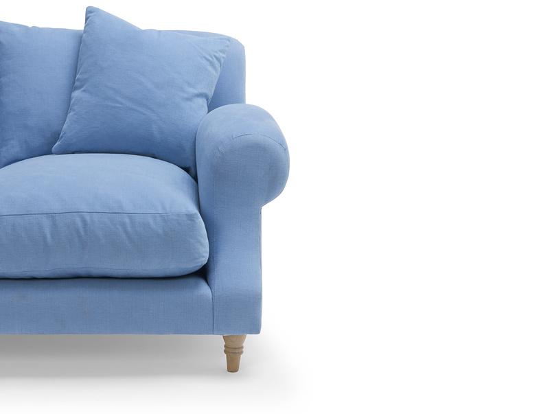 Classic style luxury British Crumpet chaise corner sofa