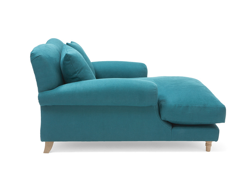 Classic comfy Crumpet love seat chaise