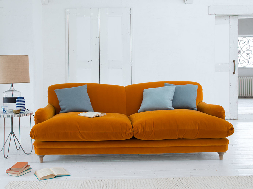 Comfy luxury British made deep contemporary style Pudding sofa