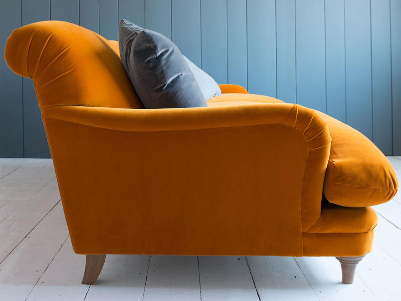 Very comfy British made Pudding snuggler sofa and love seat