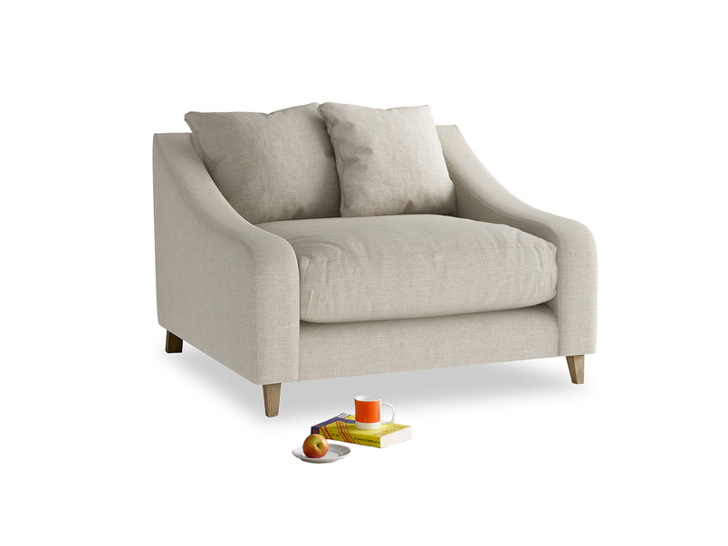 Beautiful Oscar extra deep love seat and snuggler