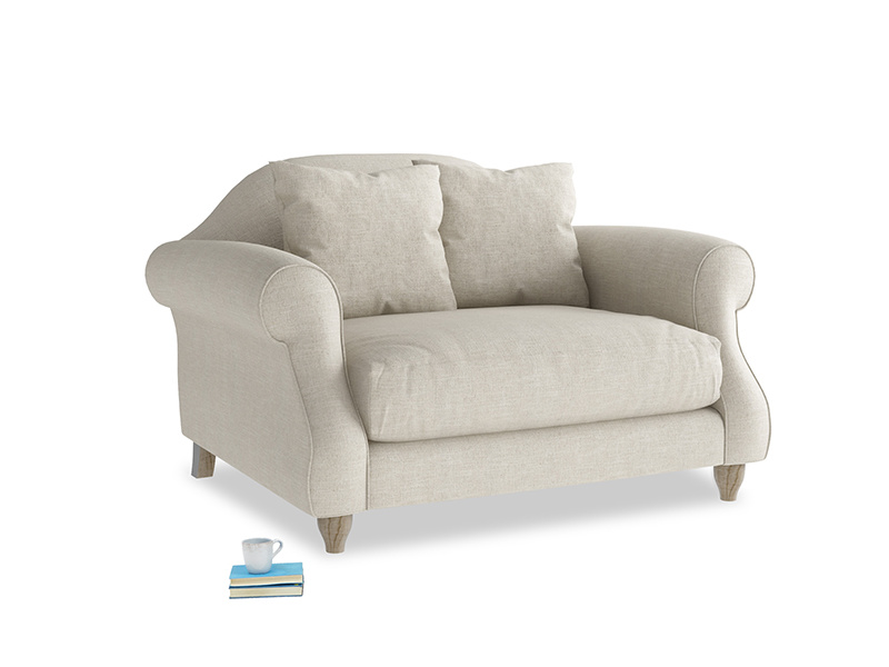 Beautiful traditional Sloucher classic love seat