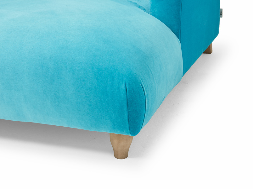 Contemporary Soufflé snuggle love seat chaise
