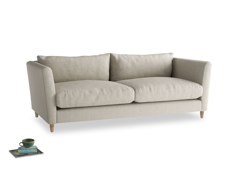 Flopster sofa luxury British modern sofa with high rounded arms