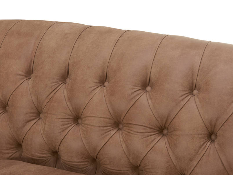 Butterbump button back chesterfield armchair