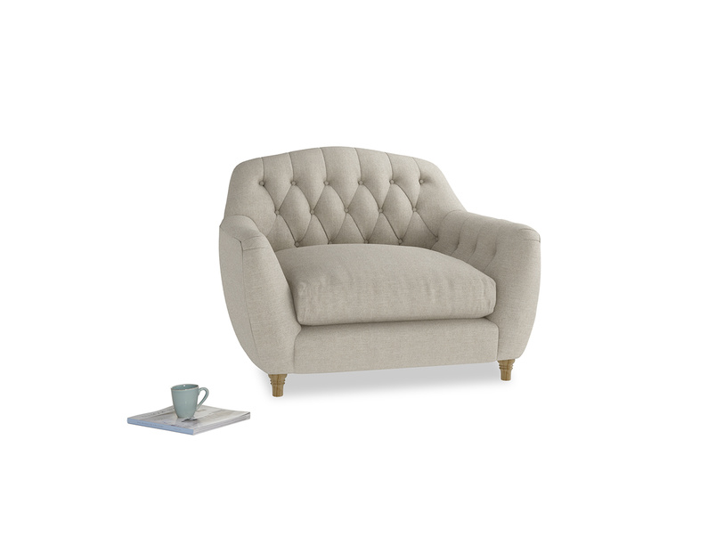 Chesterfield Butterbump love seat and button back chair