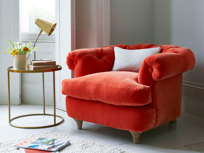 Small chesterfield style very comfy Swaggamuffin bedroom armchair