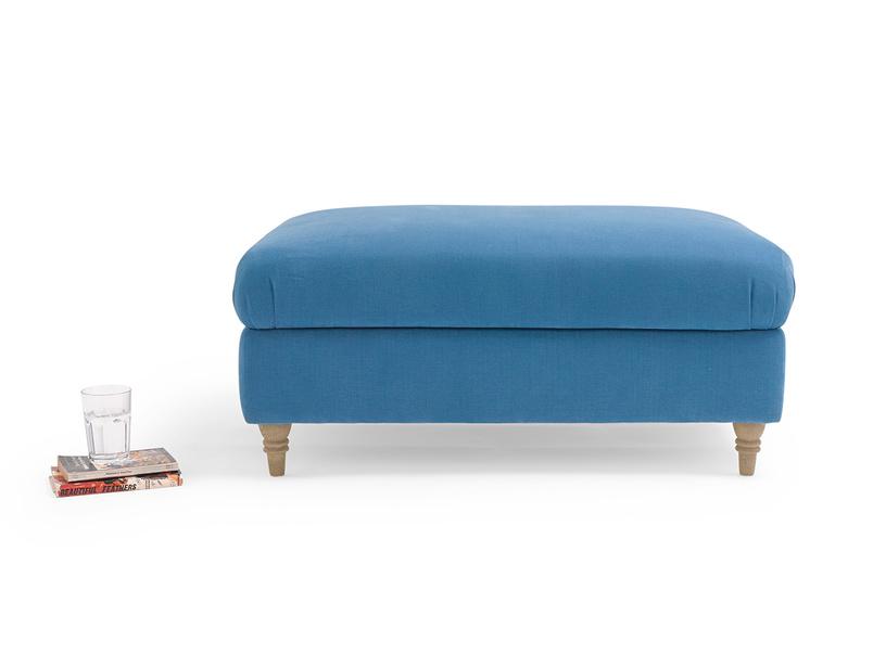 Handmade stunning upholstered fabric Flatster footstool