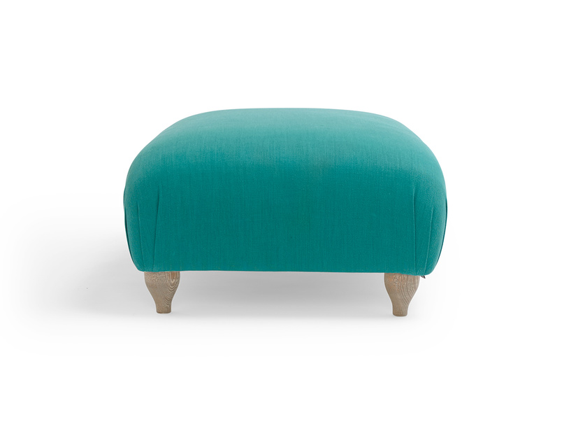Traditional Homebody upholstered handmade footstool