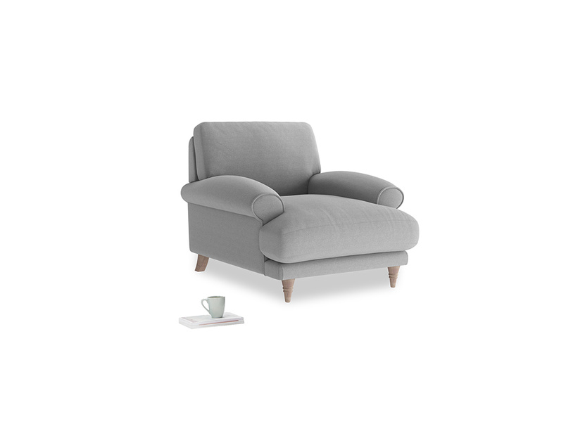 Slowcoach Armchair in Magnesium washed cotton linen