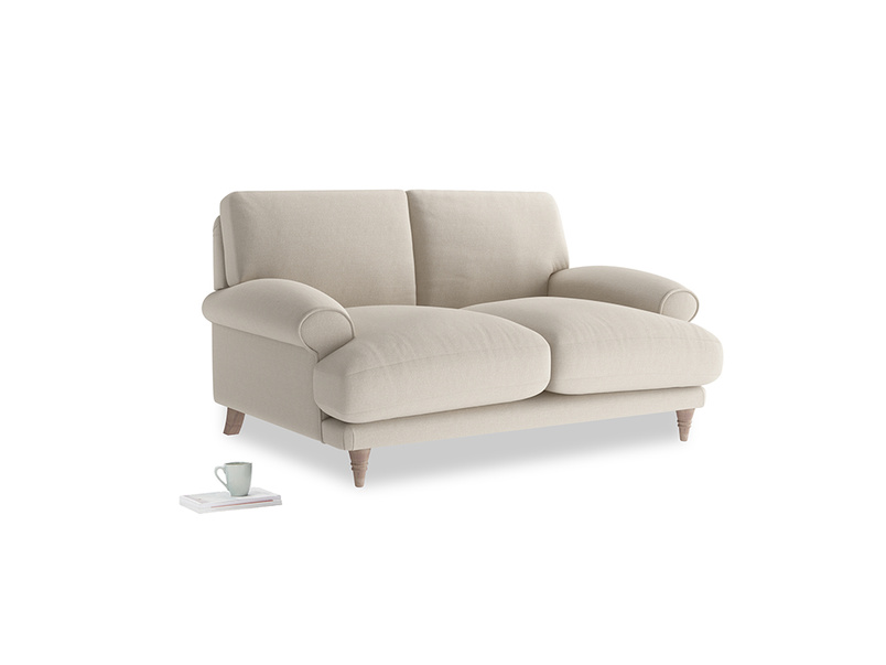 Small Slowcoach Sofa in Buff brushed cotton