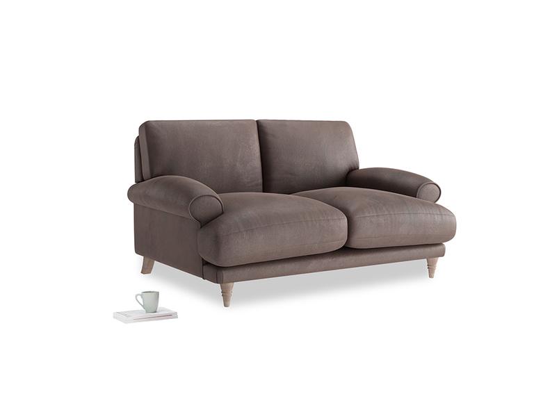 Small Slowcoach Sofa in Dark Chocolate beaten leather