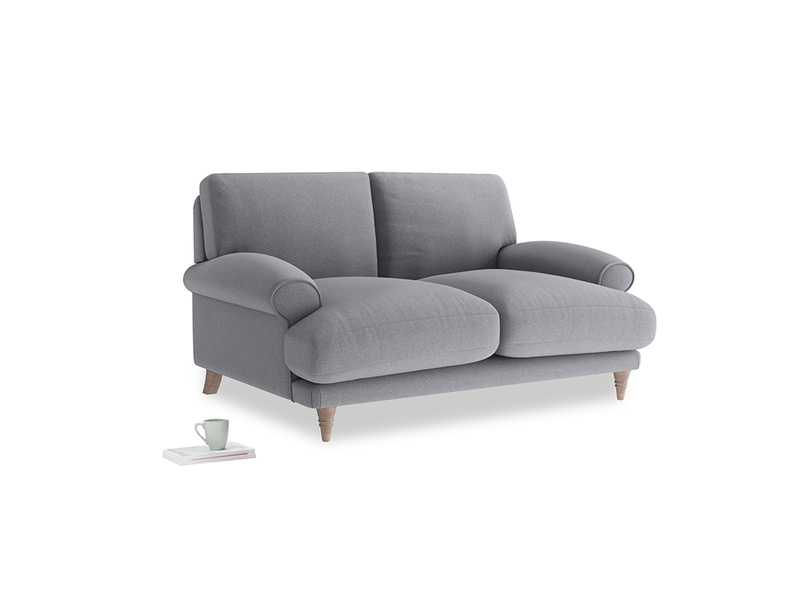 Small Slowcoach Sofa in Dove grey wool