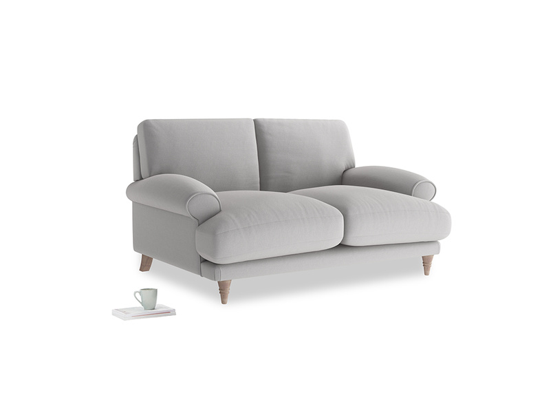 Small Slowcoach Sofa in Flint brushed cotton
