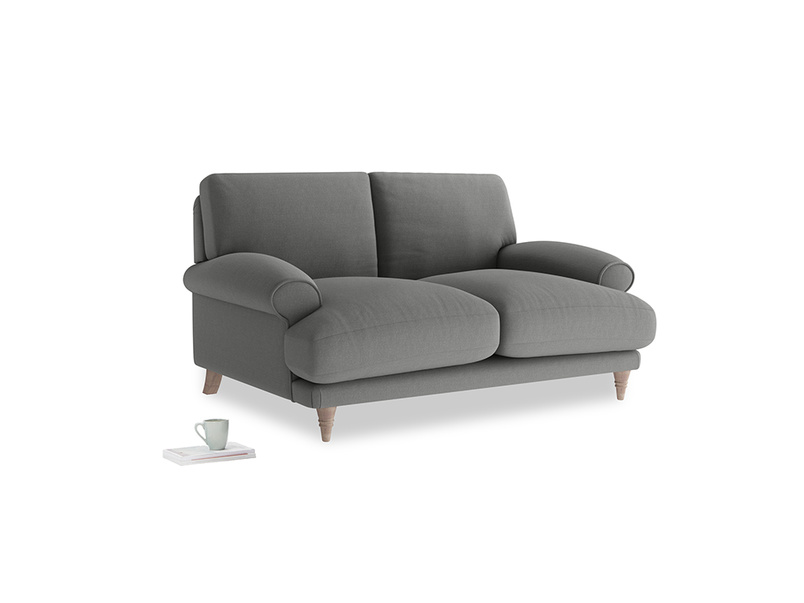 Small Slowcoach Sofa in French Grey brushed cotton