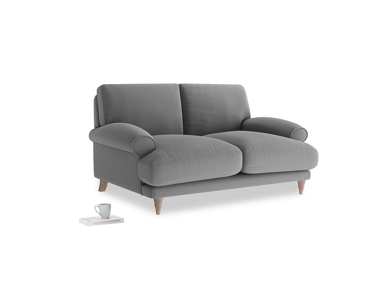 Small Slowcoach Sofa in Gun Metal brushed cotton